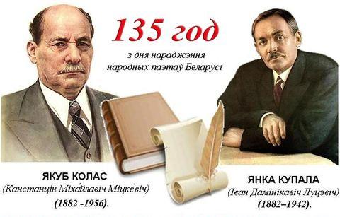Конкурс прэзентацый прысвечаных 135-годдзю з дня нараджэння  Янкі Купалы і Якуба Коласа