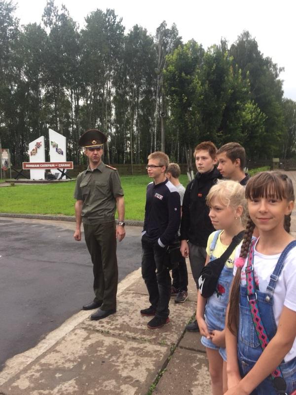 Посещение воинской части