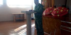 Встреча с сотрудником Мозырского пограничного отряда